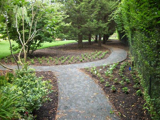 Crushed Stone Pathways : Hamptons landscape design construction