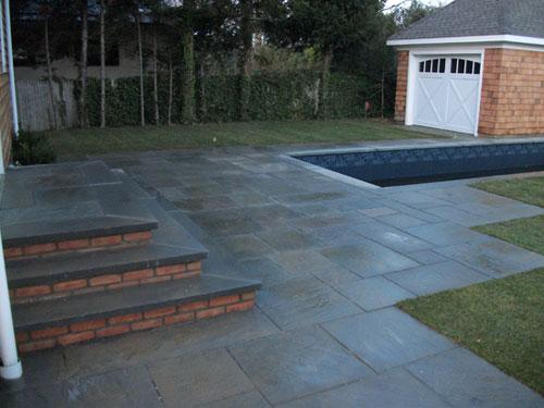 Blue Stone Patio U0026 Steps