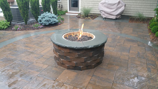 Firepirt Patio Hamptons Long Island Mason Contractor