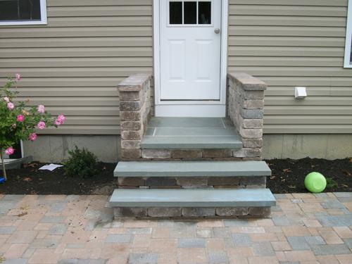 Brick Steps Bluestone Steps Home Entrance Steps