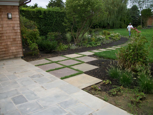 Square Paver Walkway Stone Patio And Path O 109137289 For Design Decorating