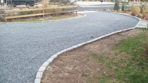 Crushed Stone Driveways : Pebble stone crushed hot oil gravel driveway